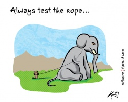 Always test the rope
